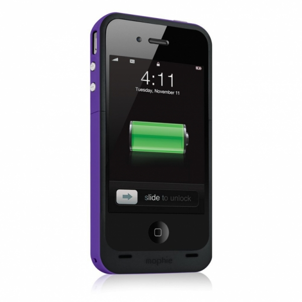Mophie Juice Pack plus (Фиолетовый) iPhone 4/4S
