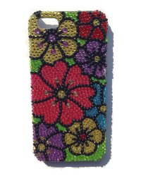 "Чехол со стразами для iPhone 5 ""Flowers 3"""
