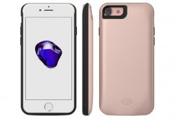 Чехол Battery Case для iPhone 8/7 PLUS - 7500mAh (с магнитом) rose gold