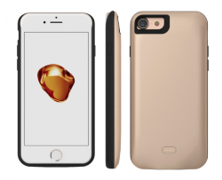 Чехол Battery Case для iPhone 8/7 PLUS - 7500mAh (с магнитом) gold