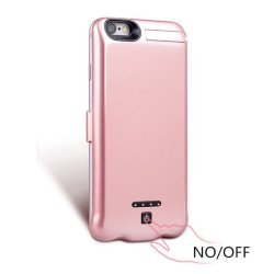 Чехол для iPhone 8/7/6/6s PLUS - Battery Case 10000mAh rose gold (B-01)