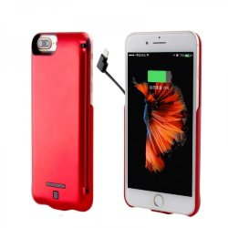 Чехол для iPhone 8 - 10000mAh (+ кабель 2в1) red