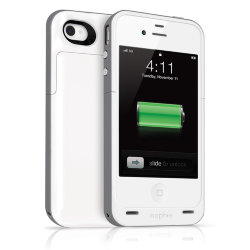 Mophie Juice Pack Plus White - iPhone 4/4s