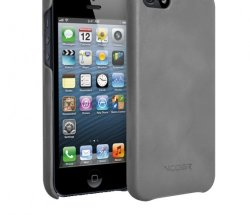 Чехол VCOER Gentry для iPhone 5/5s (КОЖА) серый