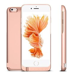 Battery Case 7000mAh для iPhone 6/6s (Усиленный) Rose Gold (6GA2)