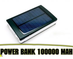 Power Bank на 100 000 mAh Solar +фонарь